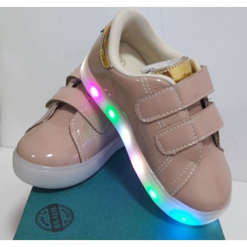 Tenis-Happy-Light-Verniz-Ouro-LED