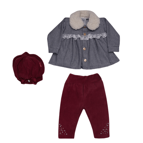 Conjunto-Bebe-Plush-Beautiful-Bordo